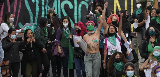 Demonstrace za legální potrat v Latinské Americe.