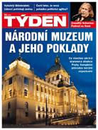 Titulní strana časopisu TÝDEN.