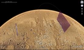 Prohlídku Marsu nabízí i aplikace Google Earth.