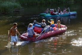 Vodáci mohou o vikendu spolouvat většinu řek.