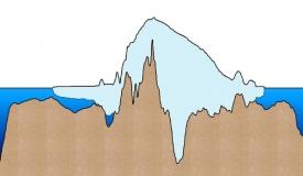 Značná část podloží na západě Antarktidy leží pod úrovní moře.