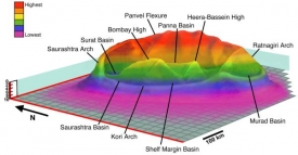 Pánev Šiva je možná obrovský kráter po dopadu asteroidu.