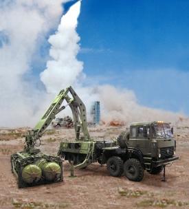 Testy raketového systému S-300.