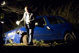 Auto, ve kterém uprchl Tauchen a jeho manželka.