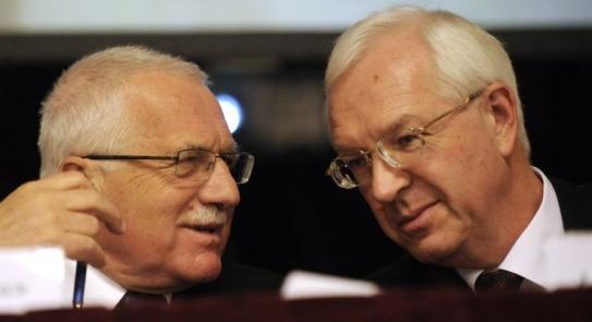 Václav Klaus a Jiří Drahoš. Na roli základního výzkumu se neshodnou.