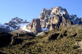 Druhá nejvyšší hora v Africe - Mount Kenya.