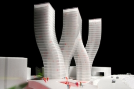 Model projektu Walter Towers.