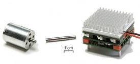 Jednotlivé součástky pro motor vyvinutý v ETH vyrobily německé firmy.