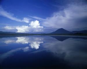 Scenérie jezera Natron.