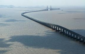 Nejdelší čínský most Donghai.