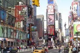 Times Square v centru New Yorku.