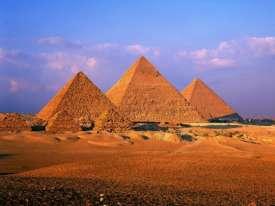 Pyramidy v Gize.