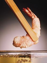 Krevetka v tempurovém těstíčku.