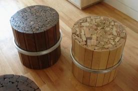 Dřevěná sedátka od UHURU.